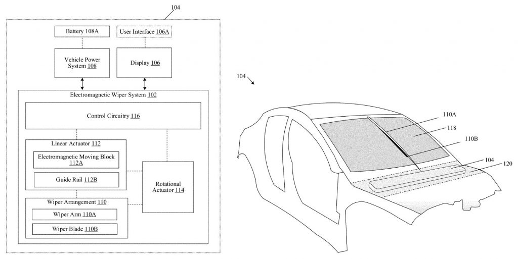 Tesla's patent for a stealthy, electromagnetic wiper is