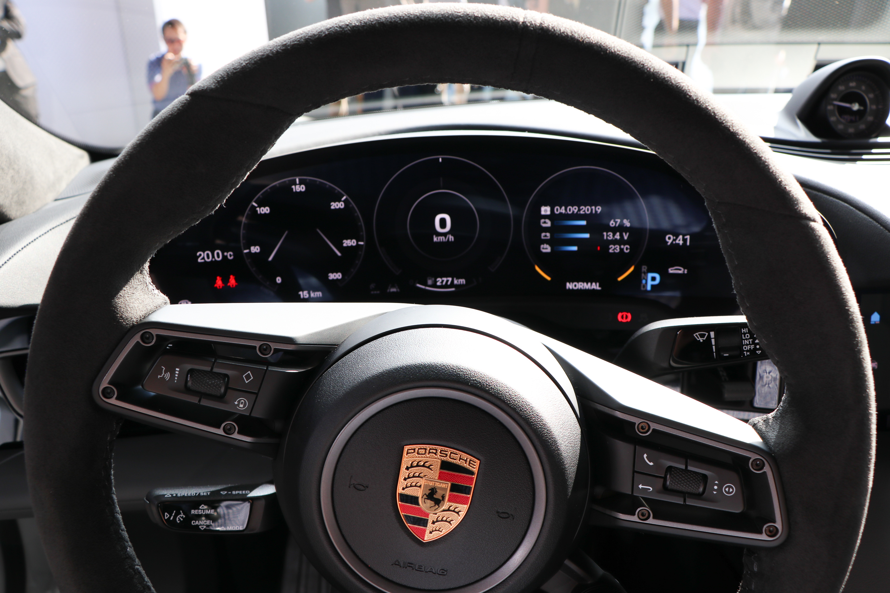 Porsche Taycan driver's view is unmistakably 911