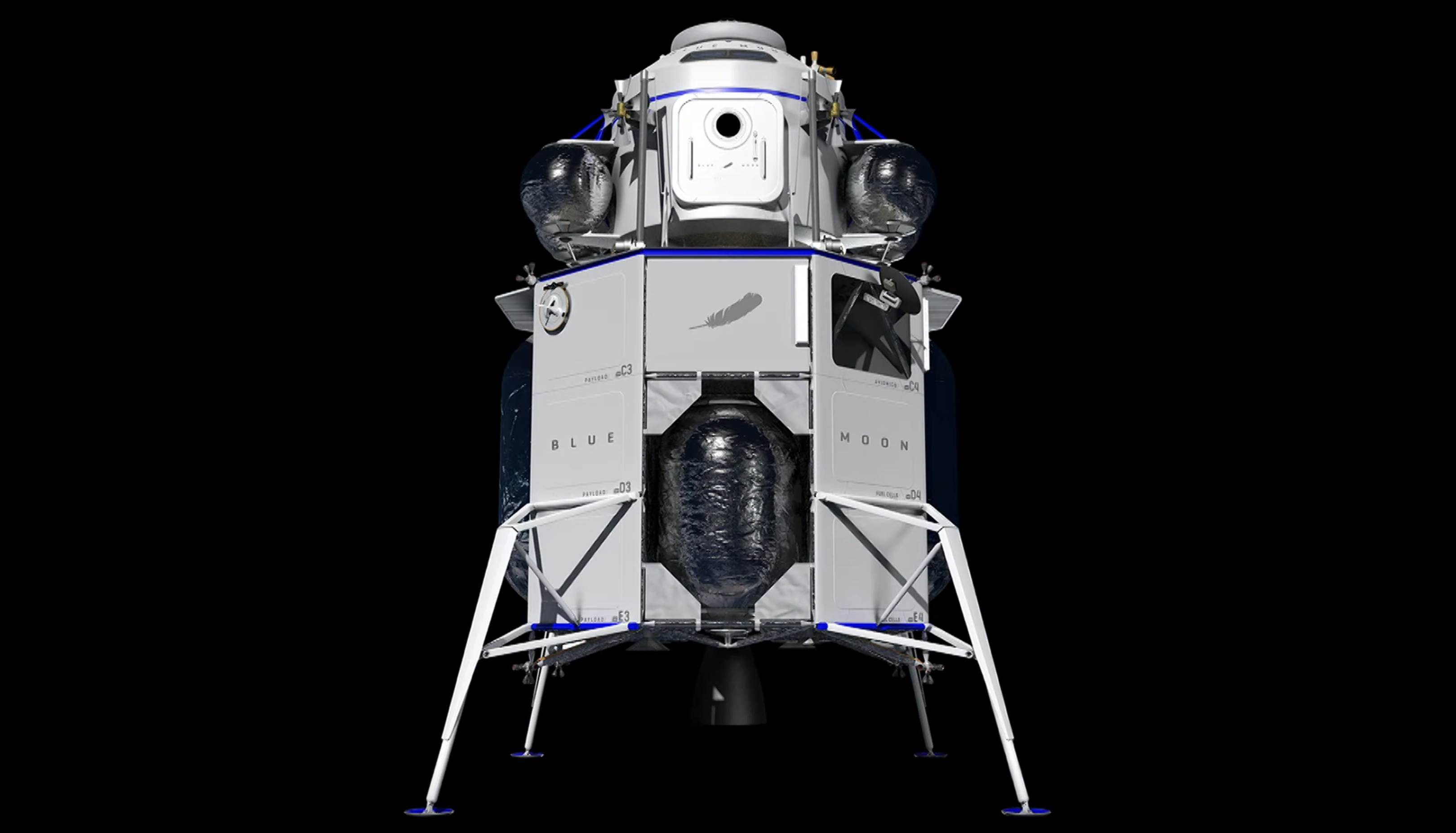 Blue Moon crew cabin and ascent stage payload (Blue Origin) 1