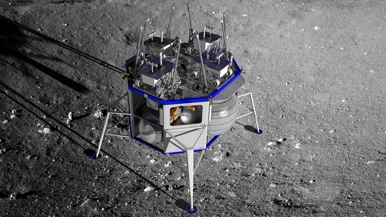 Blue Moon lander renders (Blue Origin) 1