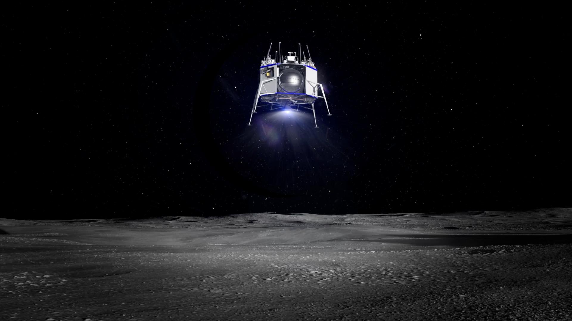 Blue Moon lander renders (Blue Origin) 2