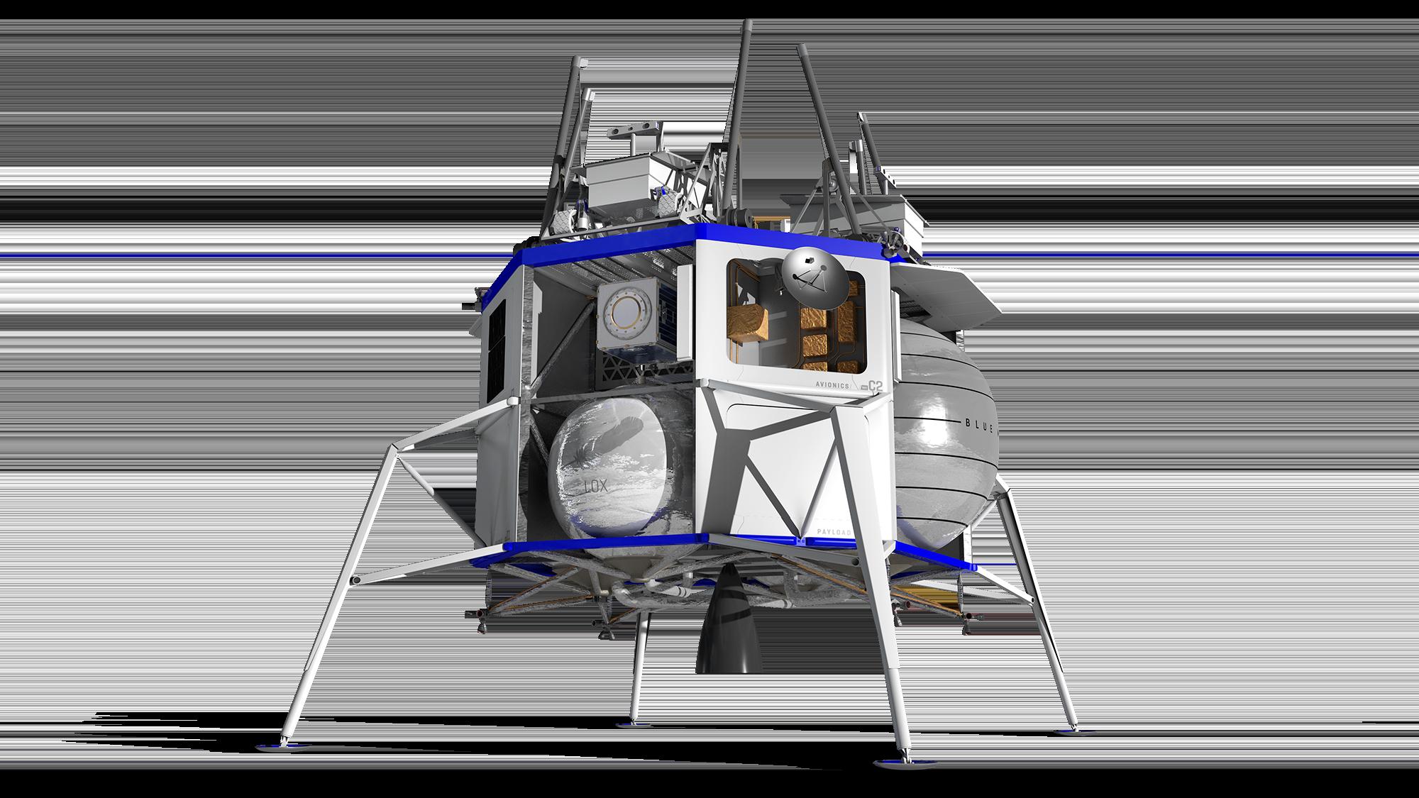 Blue Moon lander renders (Blue Origin) 3