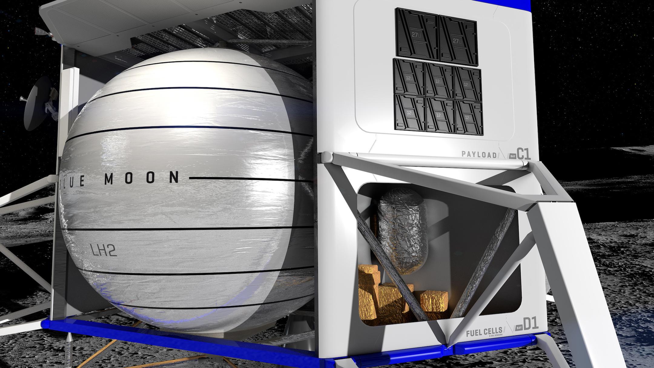 Blue Moon lander renders (Blue Origin) 4