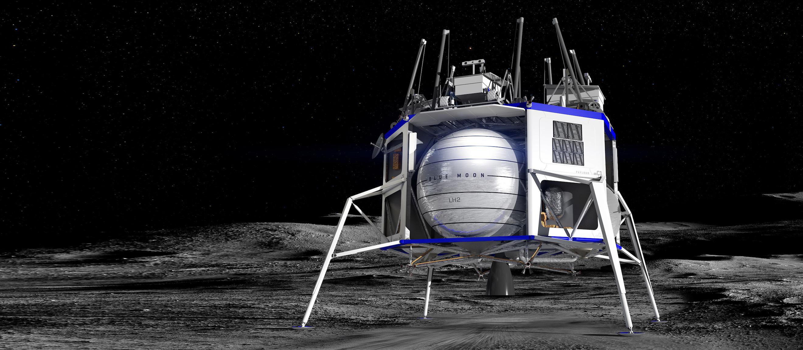 Blue Moon lander renders (Blue Origin) 5