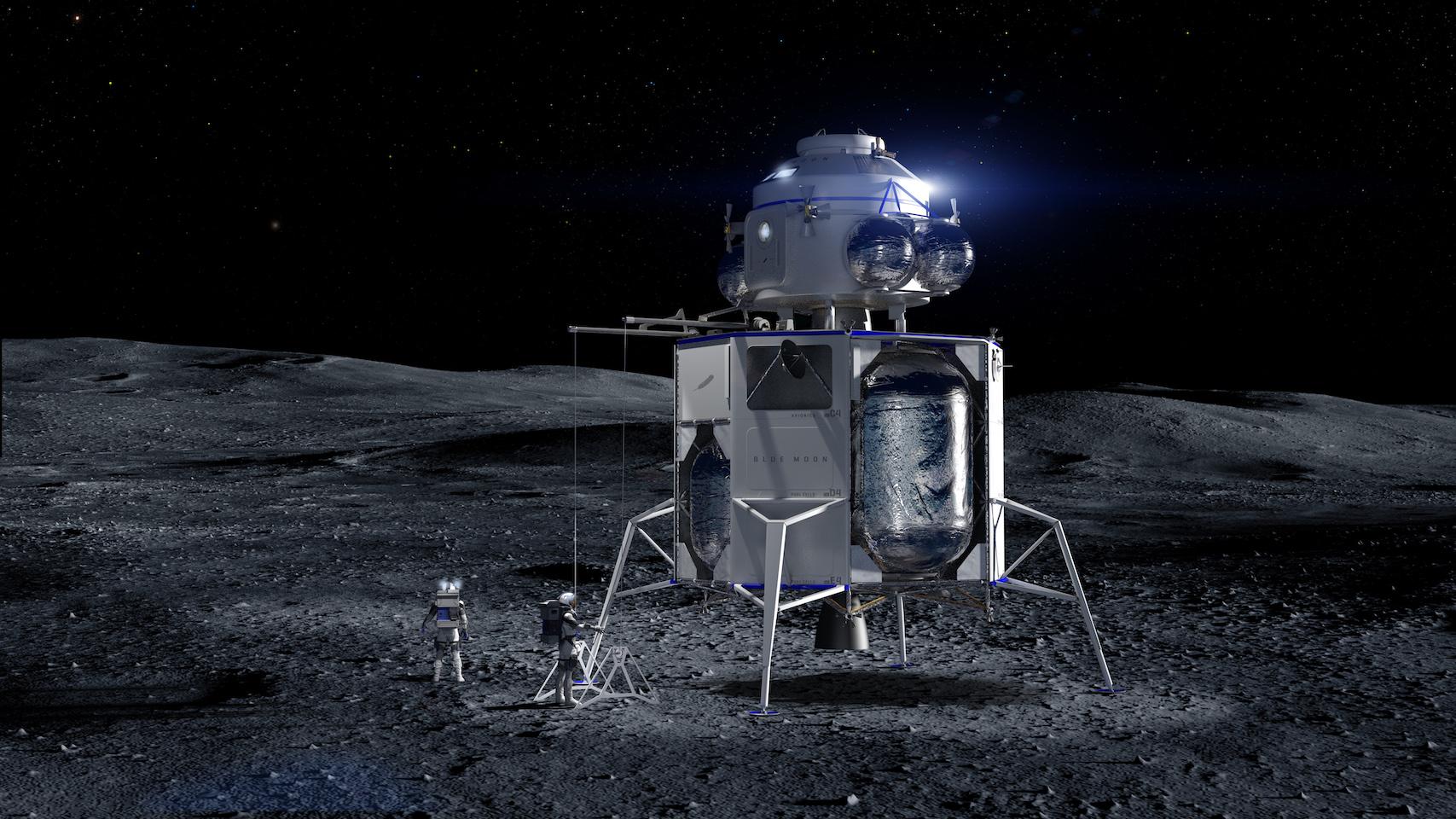 Blue Moon stretched lander and ascent stage (Blue Origin) 1
