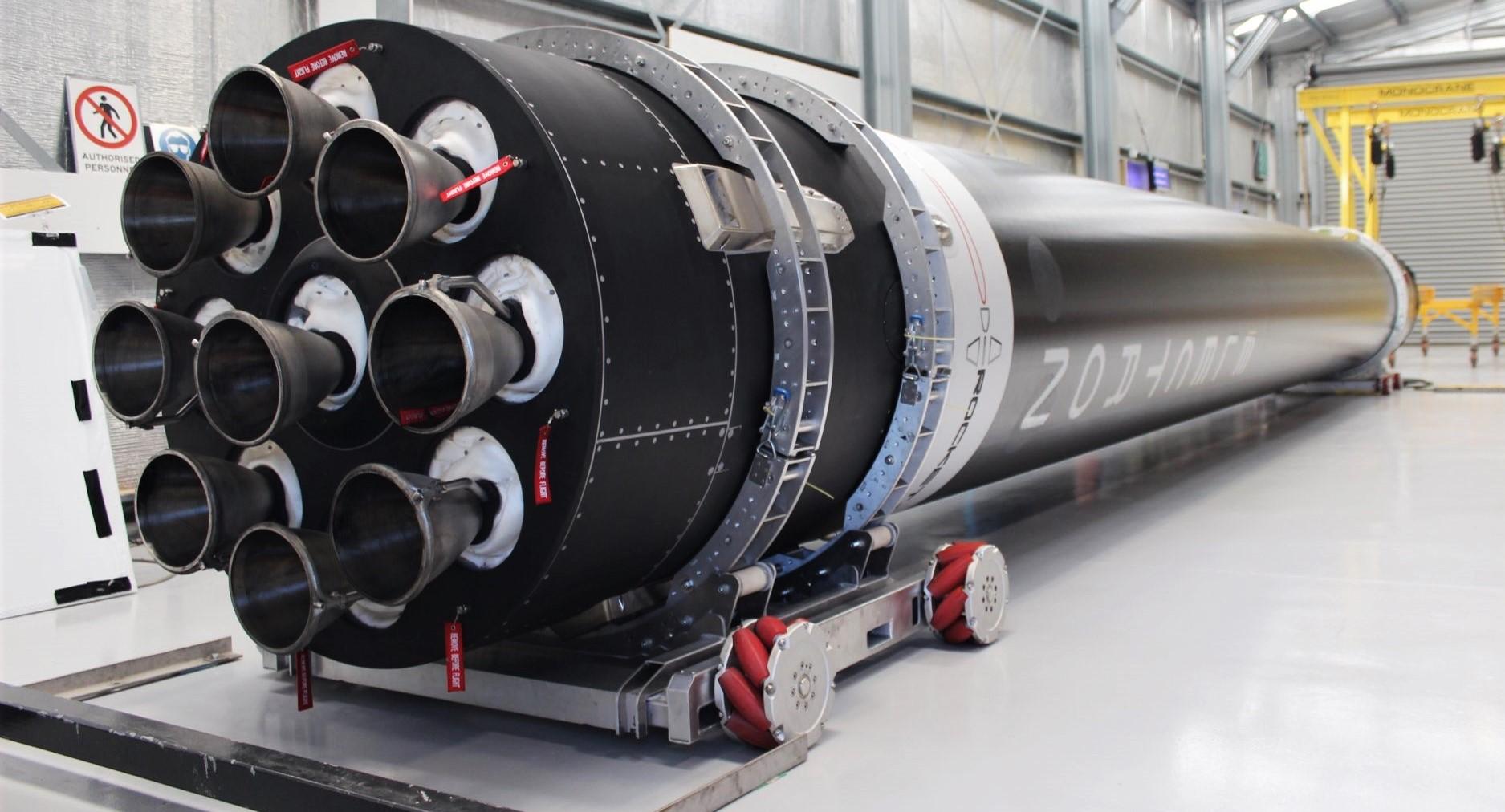 Electron Flight 9 booster LC-1 091219 (Rocket Lab) 1 crop