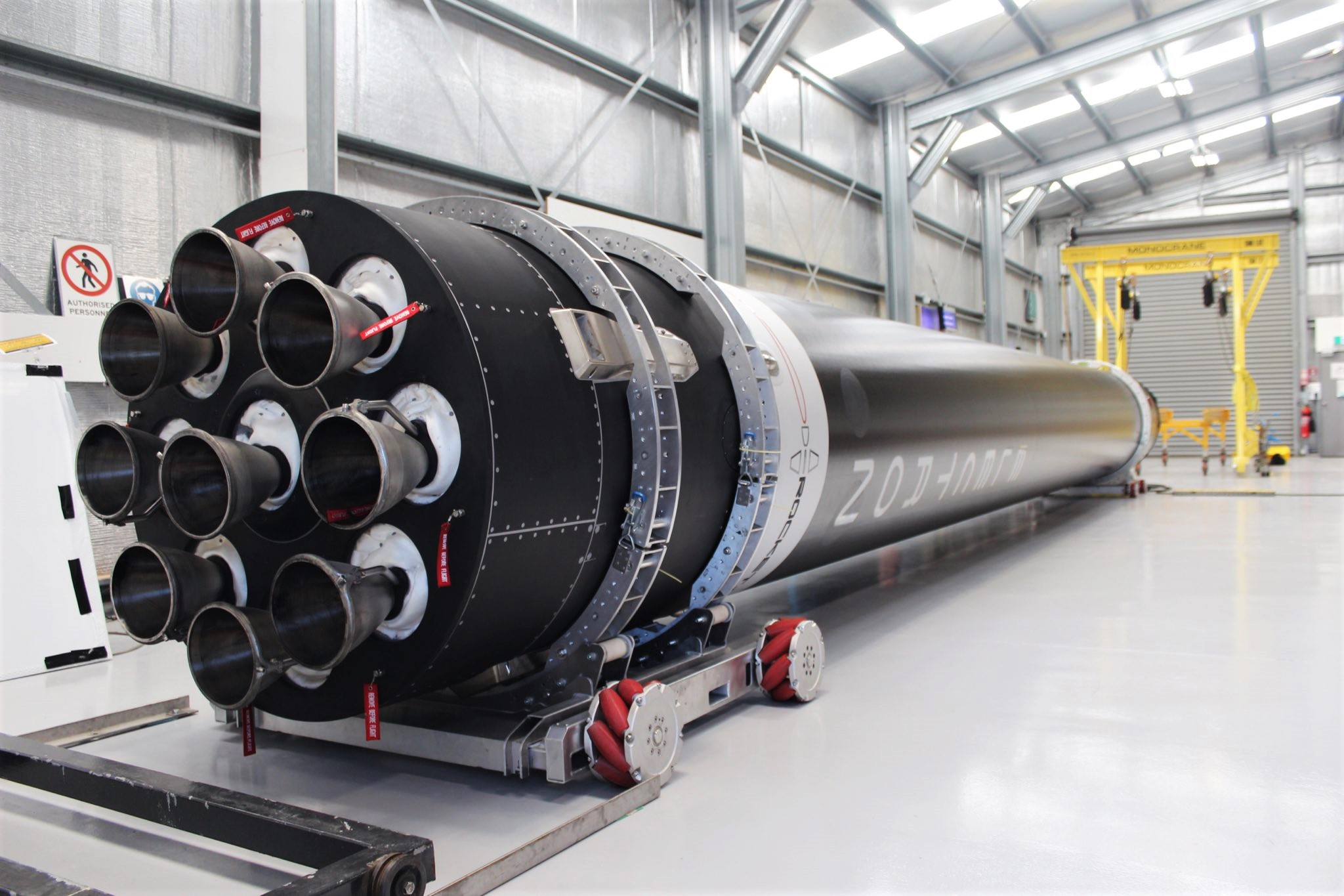 Electron Flight 9 booster LC-1 091219 (Rocket Lab) 1