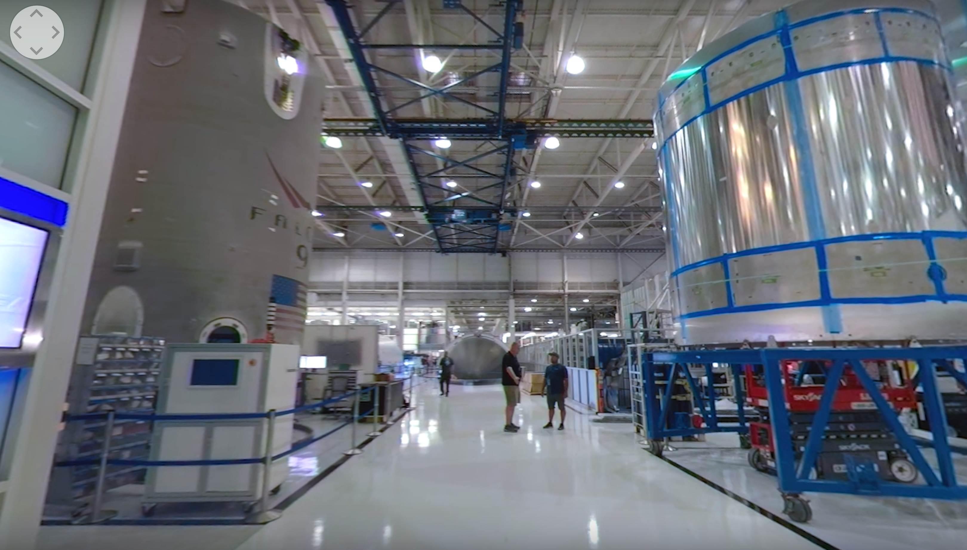 Hawthorne tour 2019 (NASA) Falcon 9 fairing integration 1