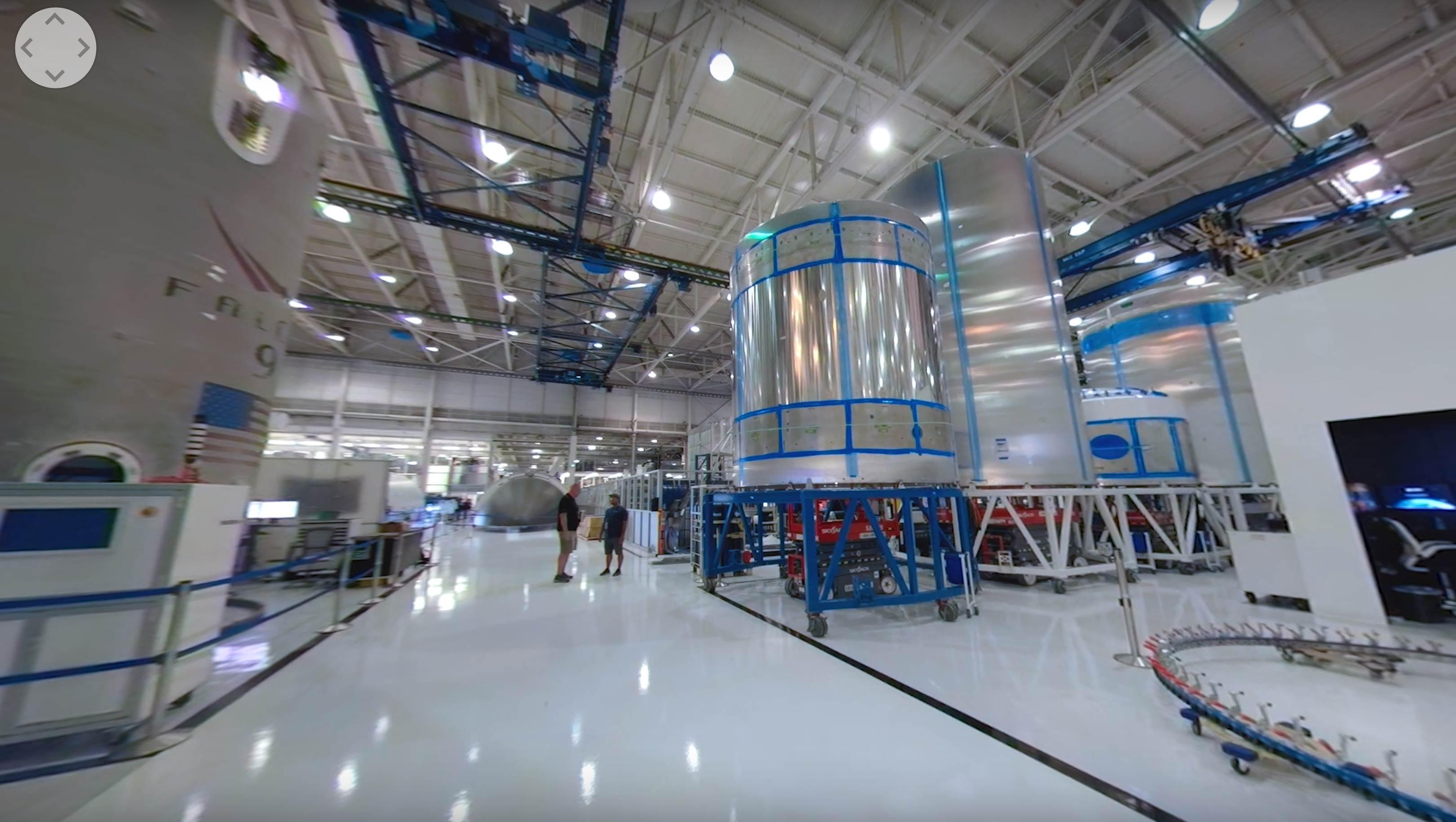 Hawthorne tour 2019 (NASA) Falcon 9 tank land 1 wide