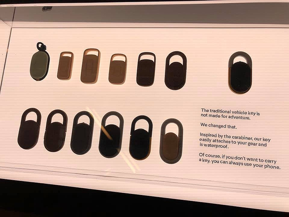 Rivian's custom key fob design is a shoutout to its outdoor clientele