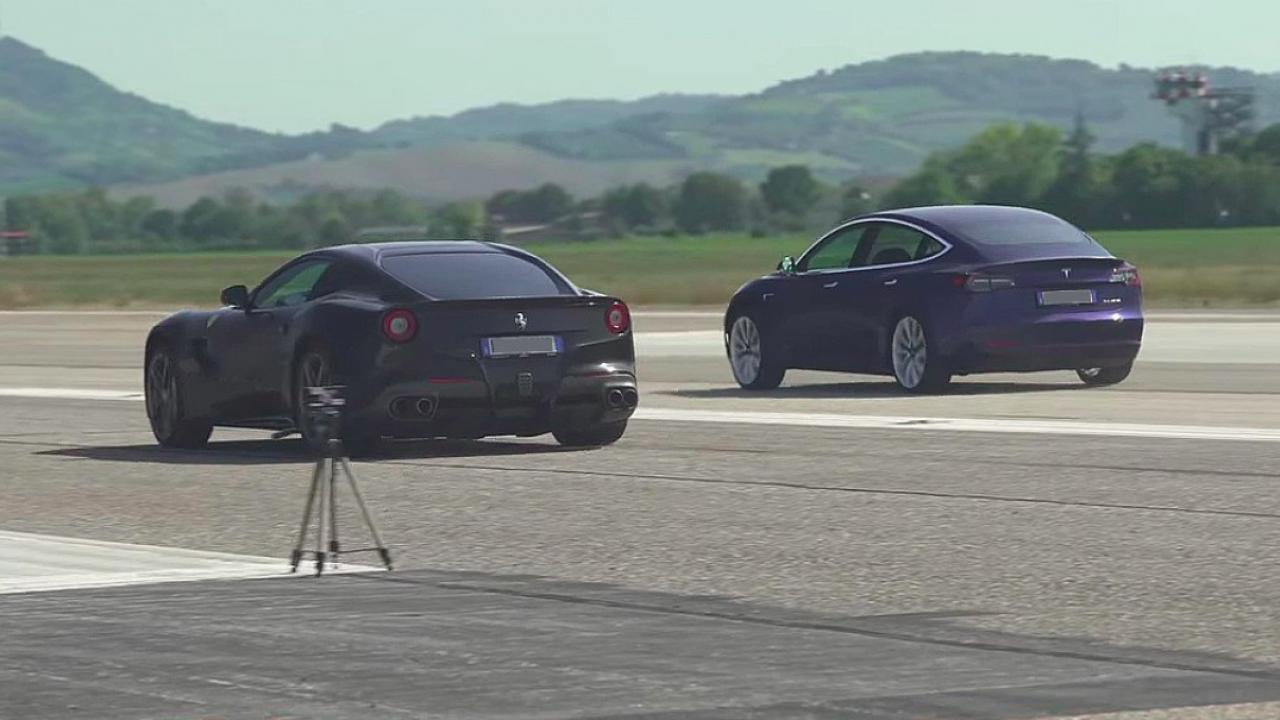 Tesla Model 3 Performance Handily Slays Ferrari F12 In Drag Race