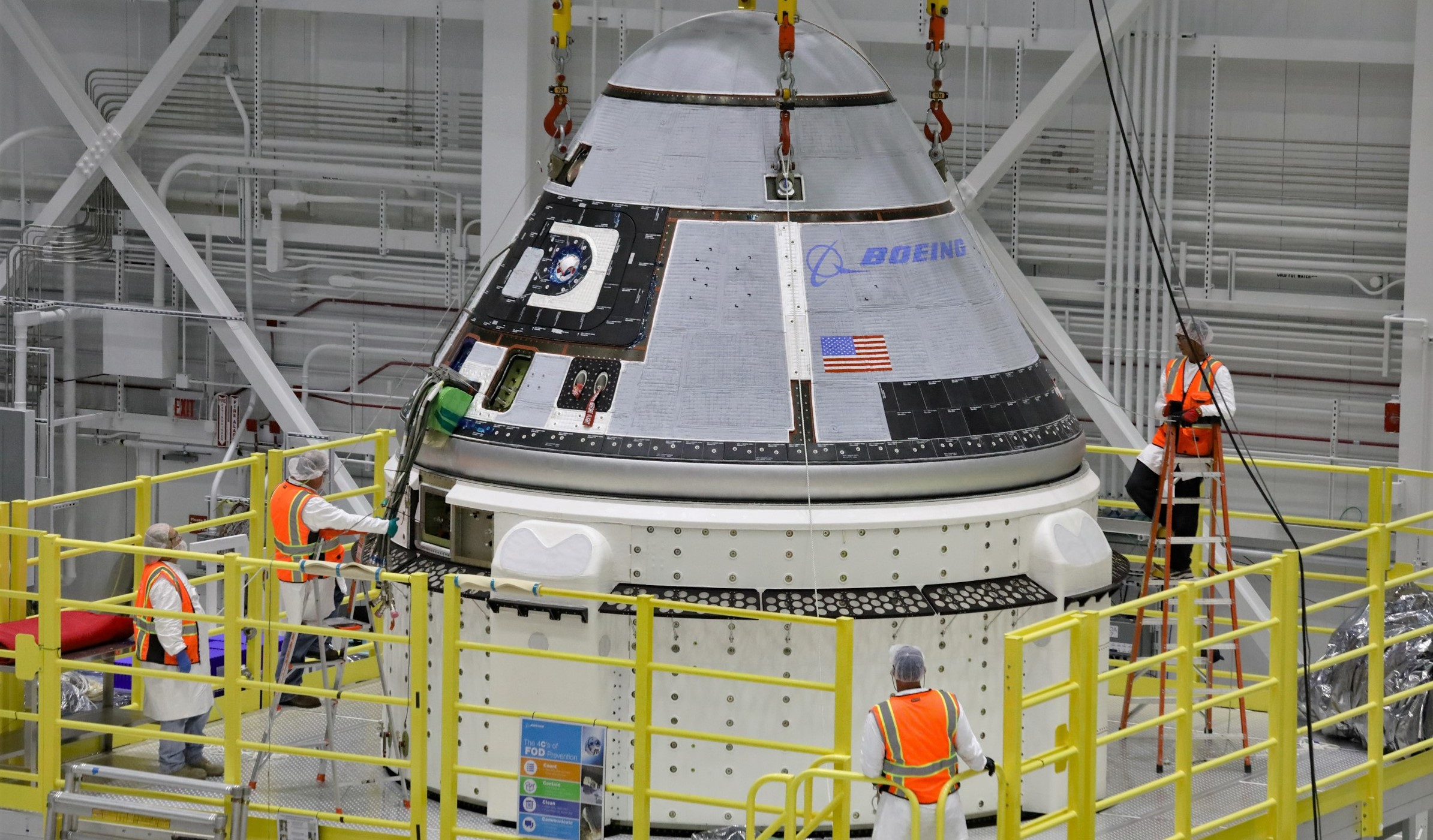 Boeing Starliner Rollout and Rendering for OFT Launch