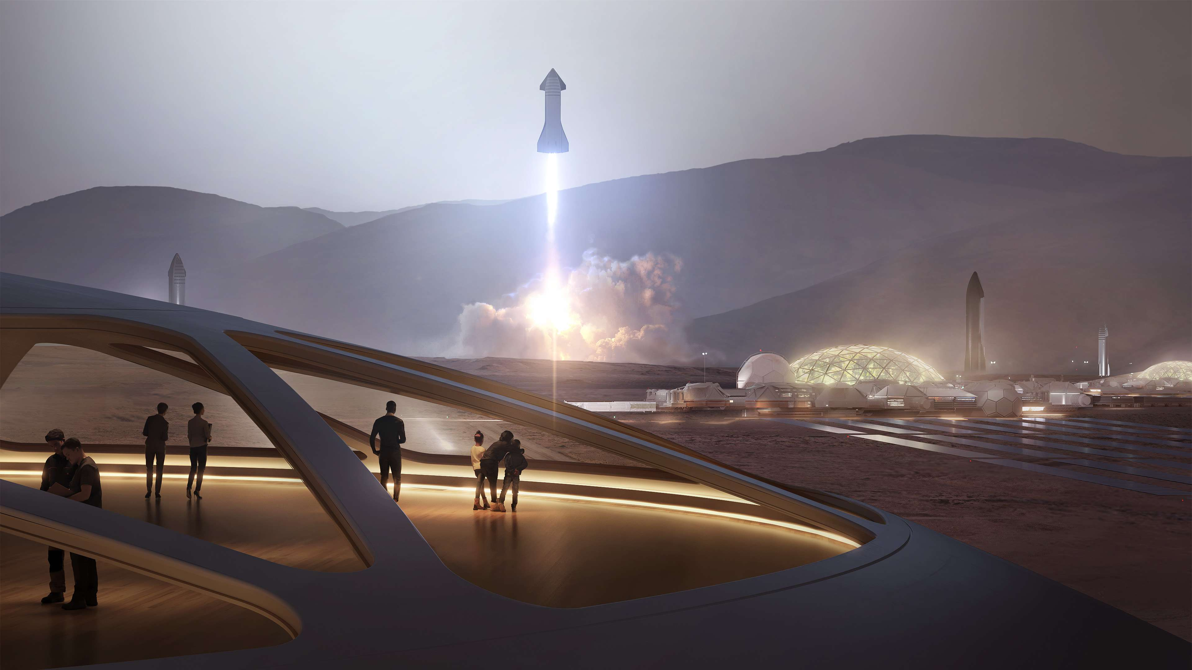Starship 2019 Mars base interior render (SpaceX) 1 (c)