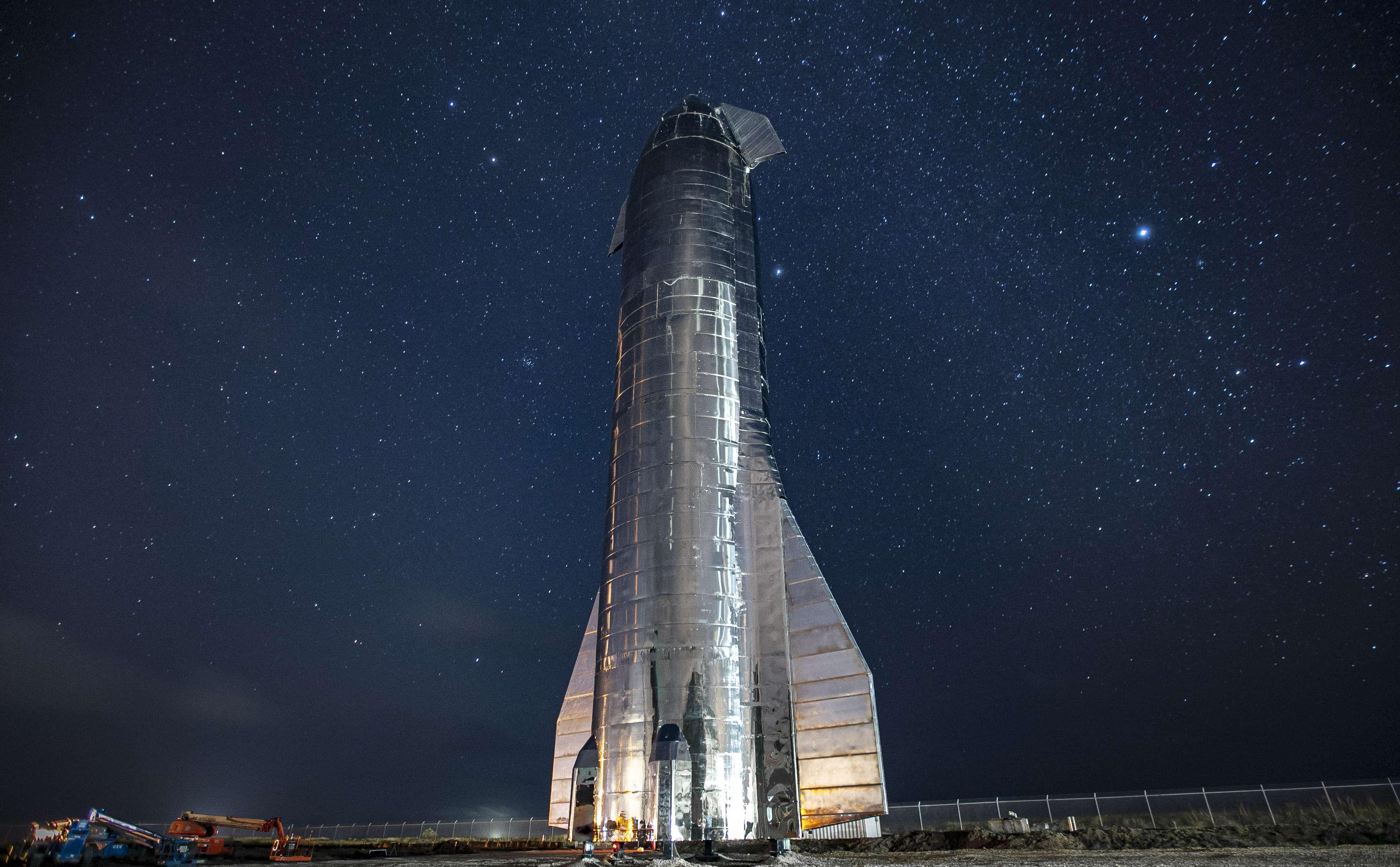 Starship Mk1 2019 (SpaceX) Milky Way Boca Chica 1 full (c)