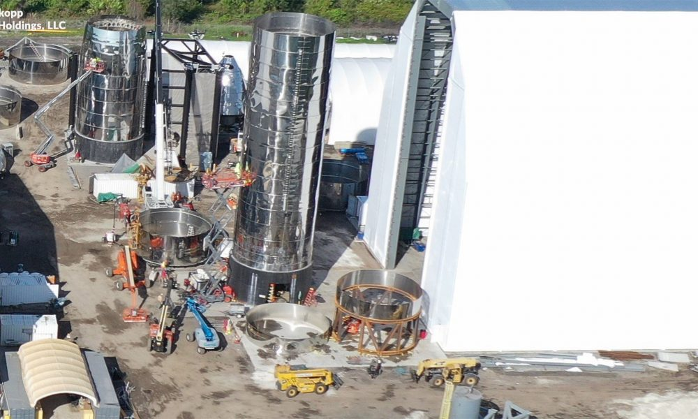 SpaceX's fourth Starship prototype has begun to take shape in Florida