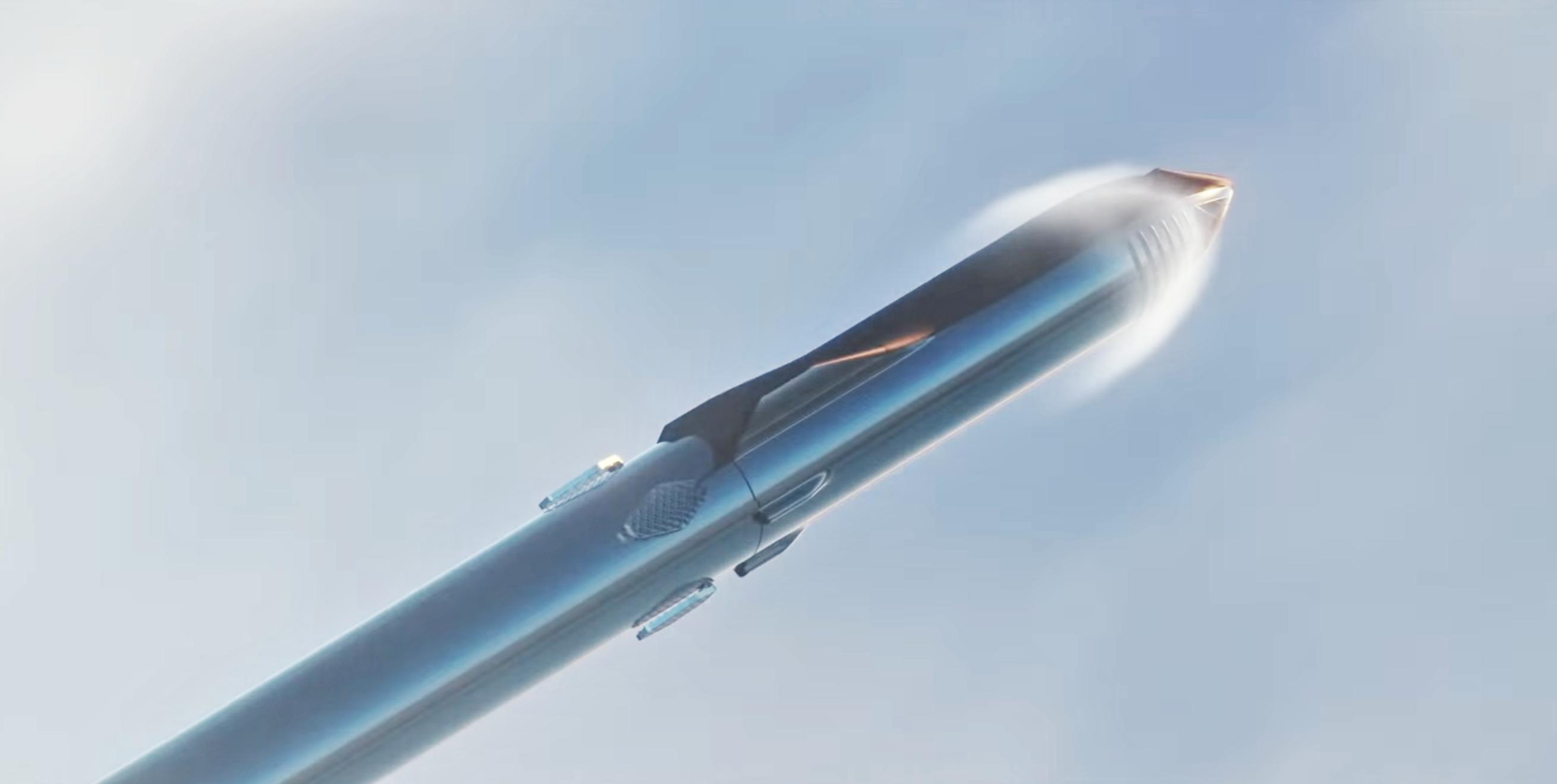 Starship Super Heavy 2019 (SpaceX) Max Q 2 crop
