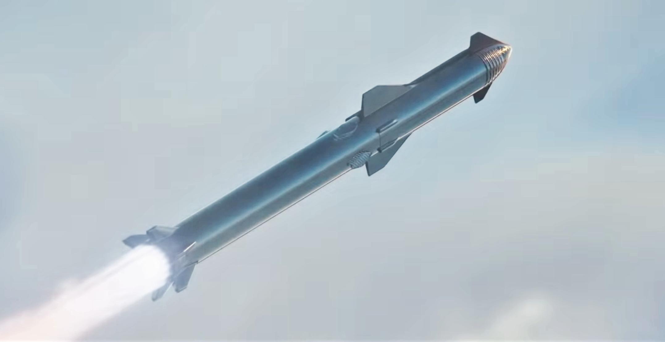 Starship Super Heavy 2019 (SpaceX) Max Q 3 crop