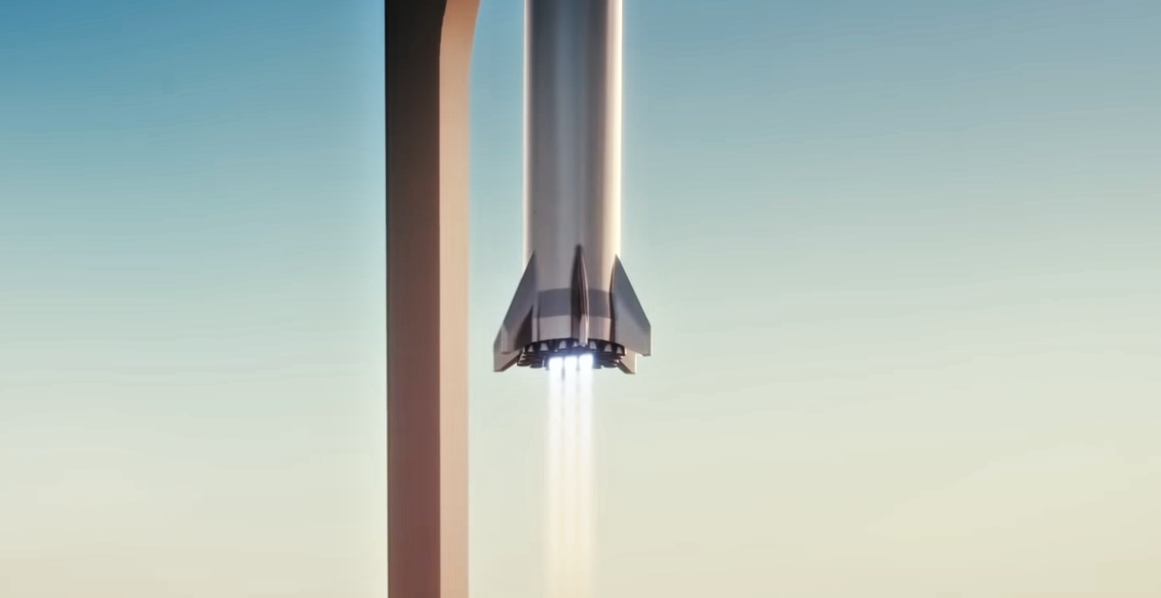 Starship Super Heavy 2019 (SpaceX) booster landing 2 edit