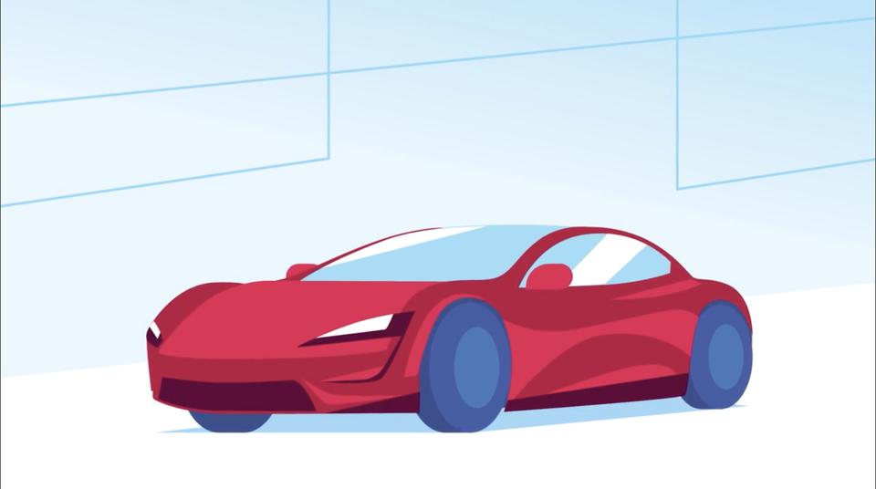 roadster illustration boa