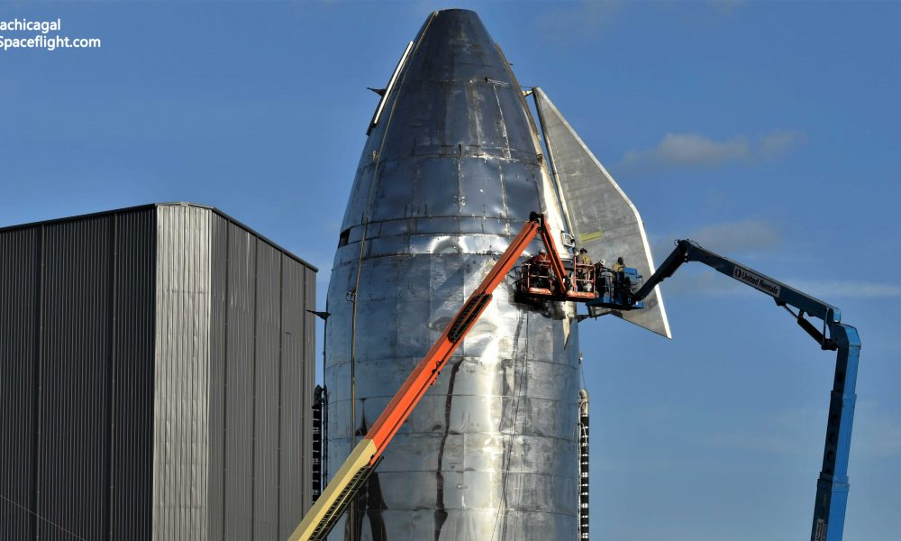 SpaceX installs Starship Mk1 rocket's flaps for the second time in build-up to flight debut