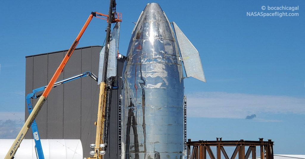 Spacex Installs Second Starship Mk1 Canard Ahead Of