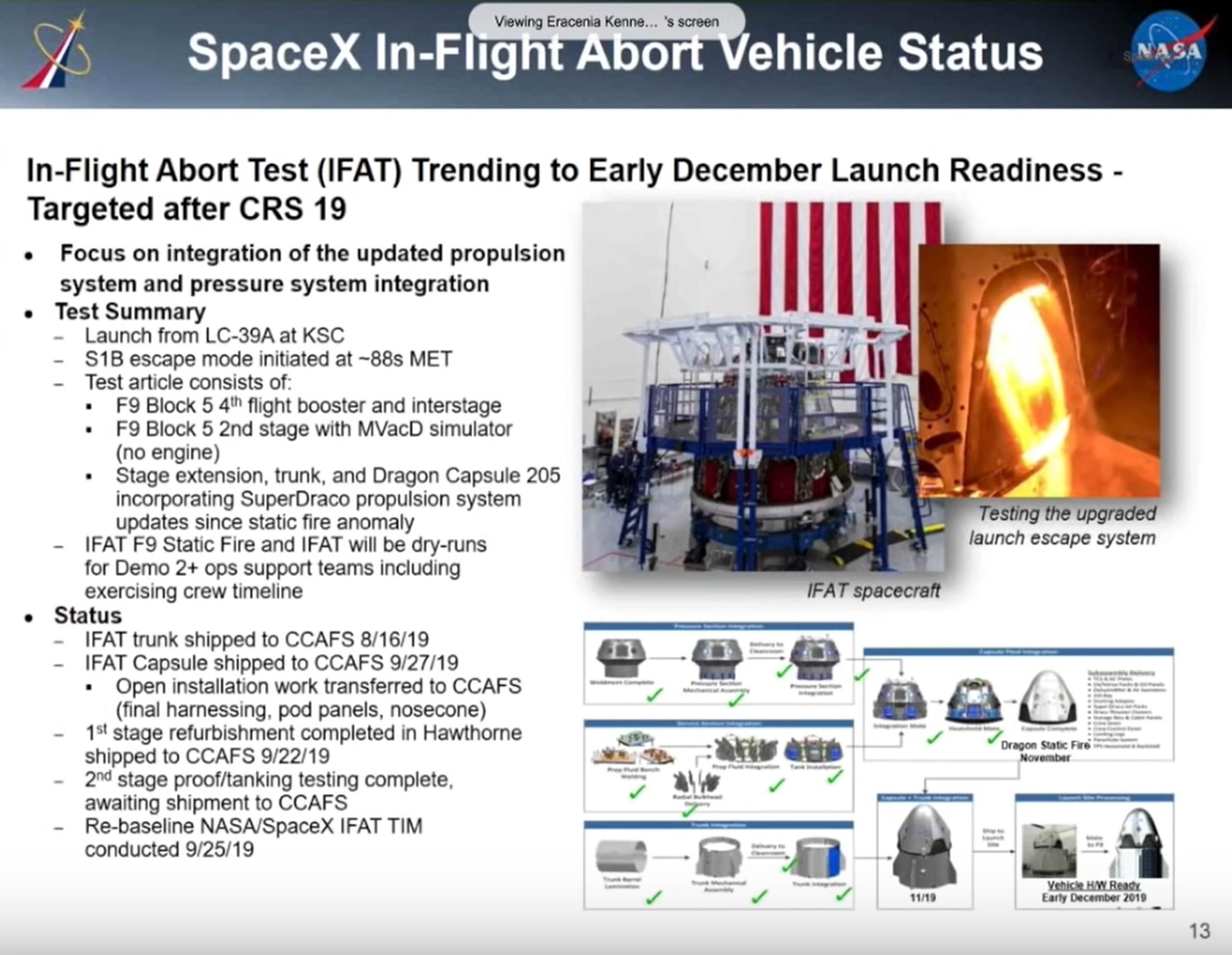 Crew Dragon IFA status 103019 (NASA) 1