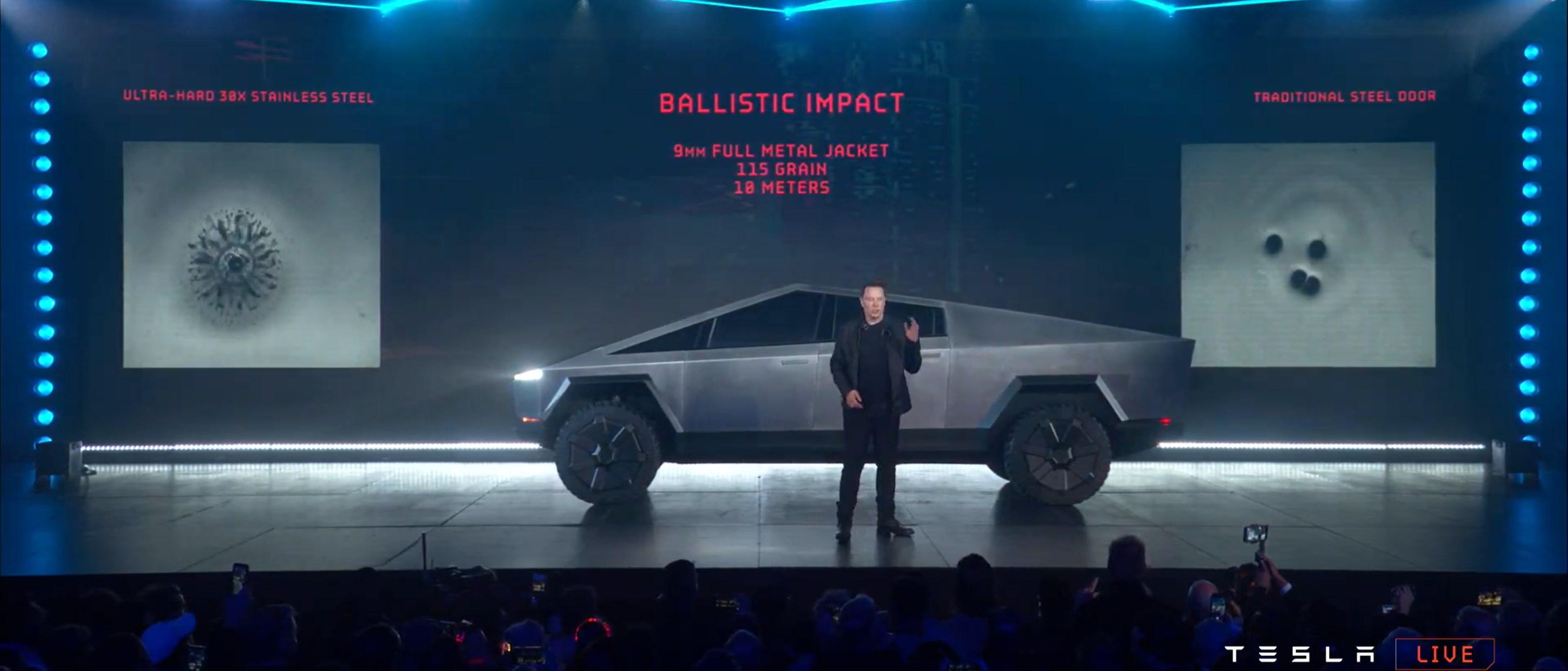 Cybertruck reveal webcast (Tesla) 7