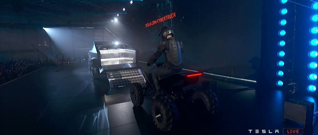 Cybertruck reveal webcast (Tesla) ATV bed 2 - TESLARATI