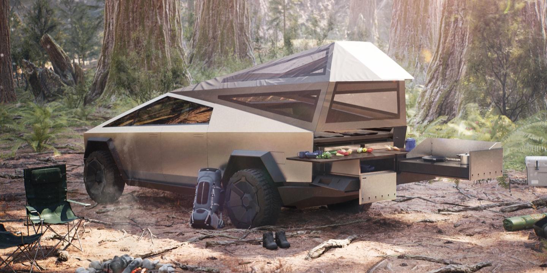 Cybertruck website (Tesla) camper 1