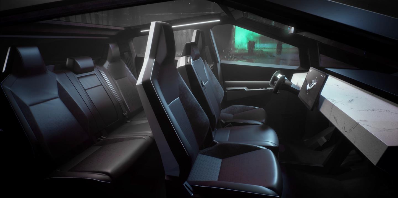 Cybertruck website (Tesla) interior 1