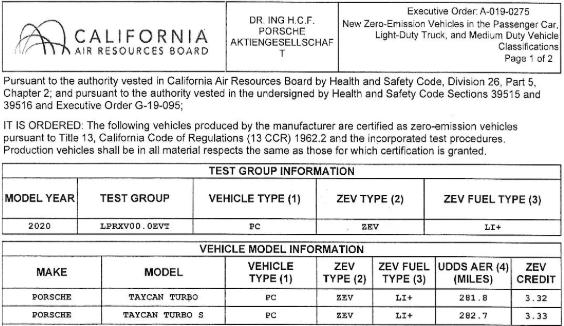porsche-taycan-carb-ratings-range-electric-vehicle
