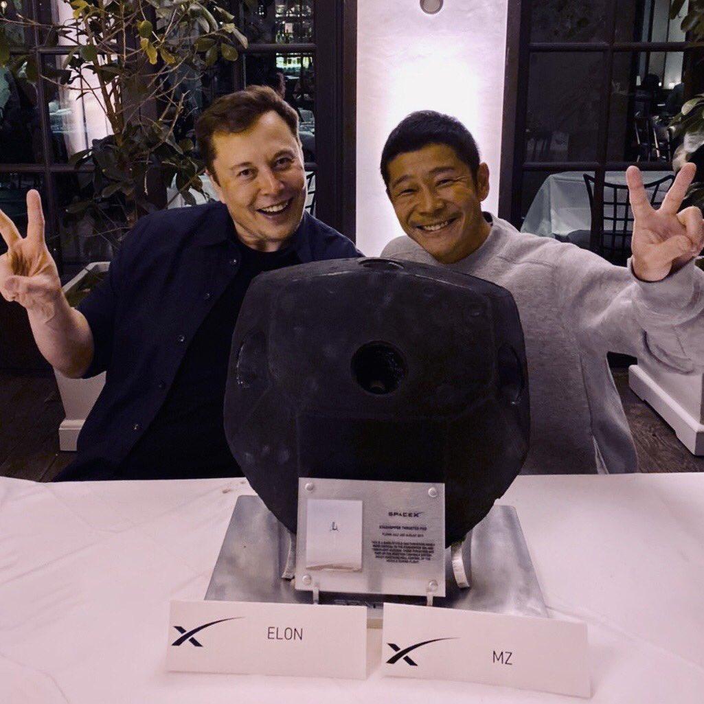 SpaceX Starhopper thruster pod Elon Musk gift (Yusaku Maezawa) 1