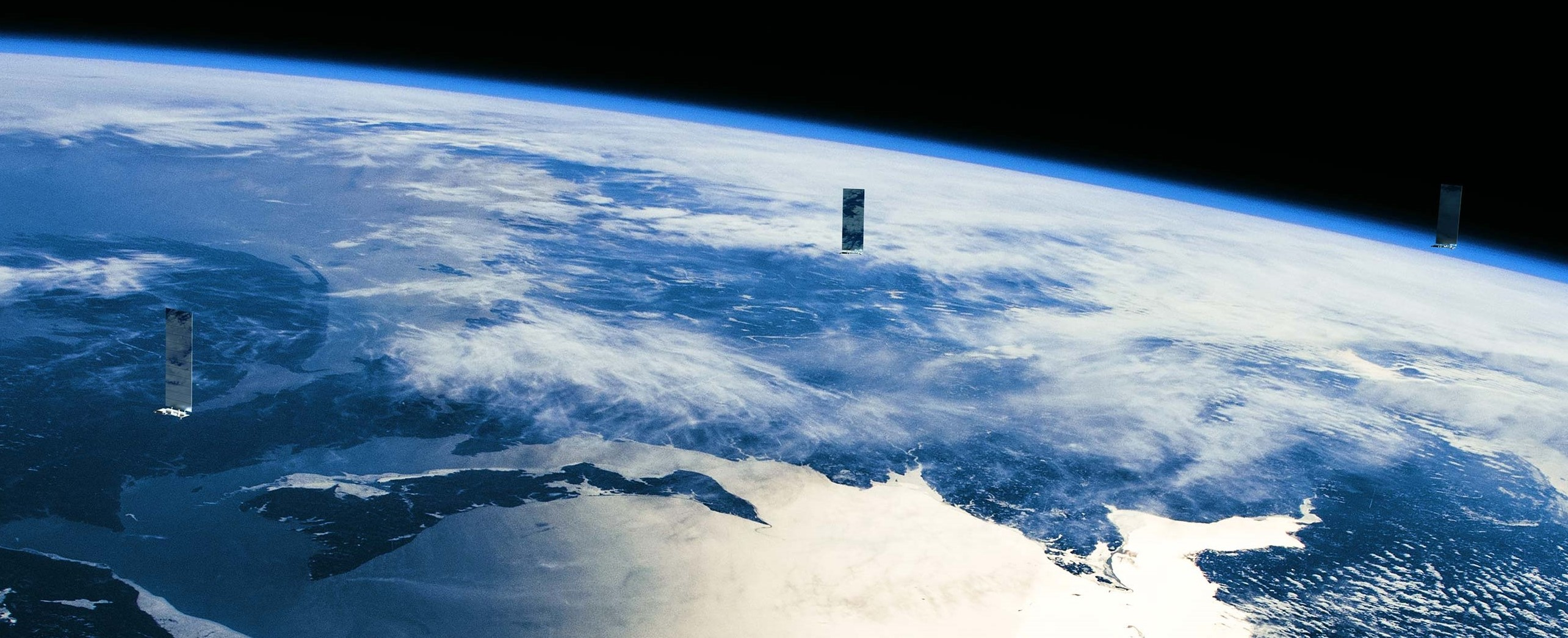 Starlink in orbit render (SpaceX) 1 crop 2