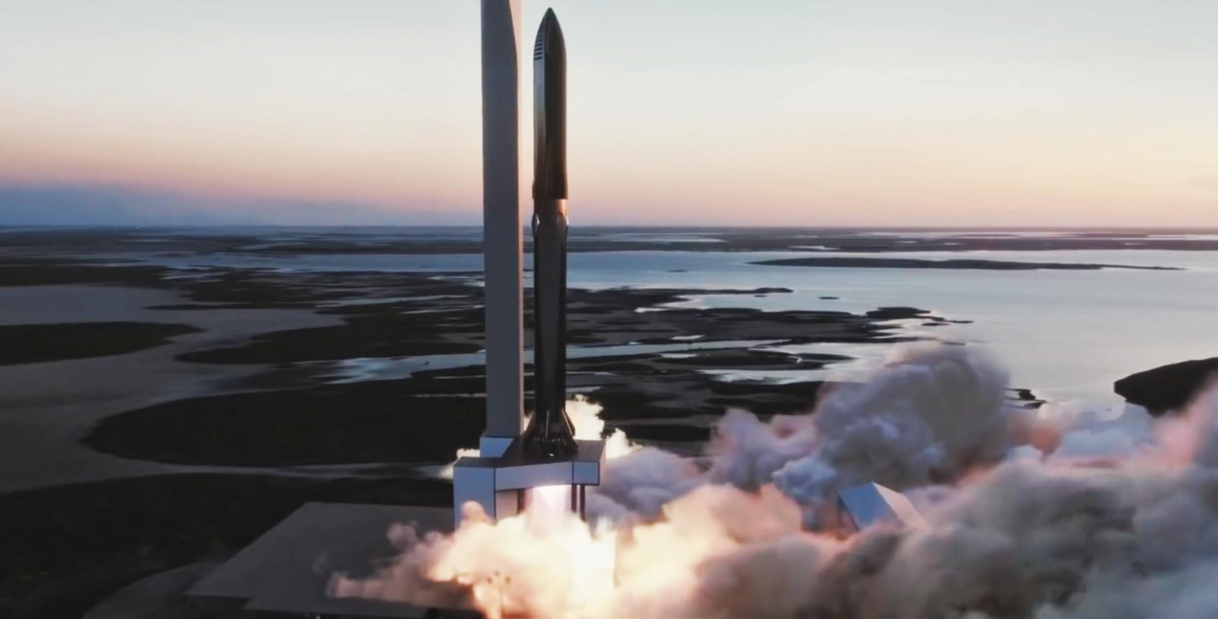 Starship Super Heavy 2019 (SpaceX) launch mount 3 crop