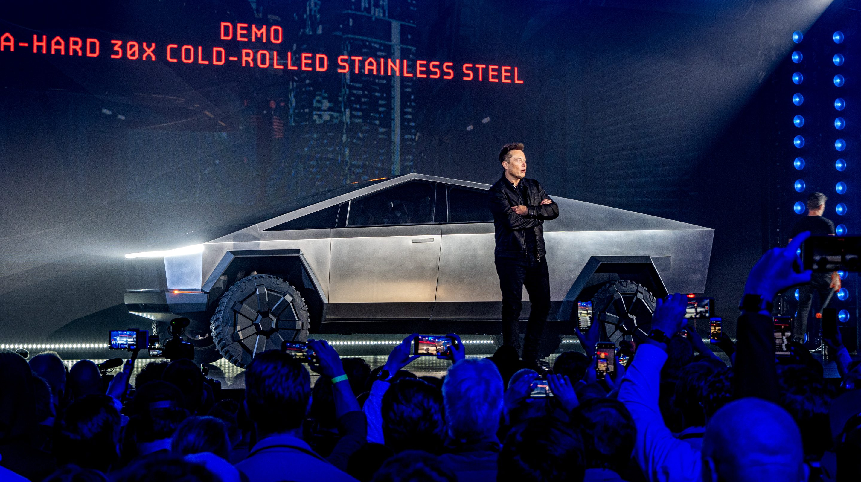 Tesla CEO Elon Musk unveils futuristic Cybertruck in Los Angeles
