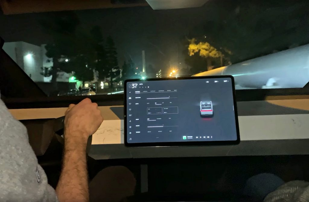 Tesla Cybertruck's 'marble' dashboard is actually made ...