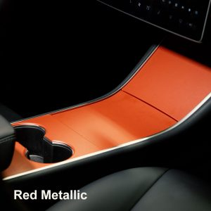 tesla-model-3-center-console-wrap-red-metallic
