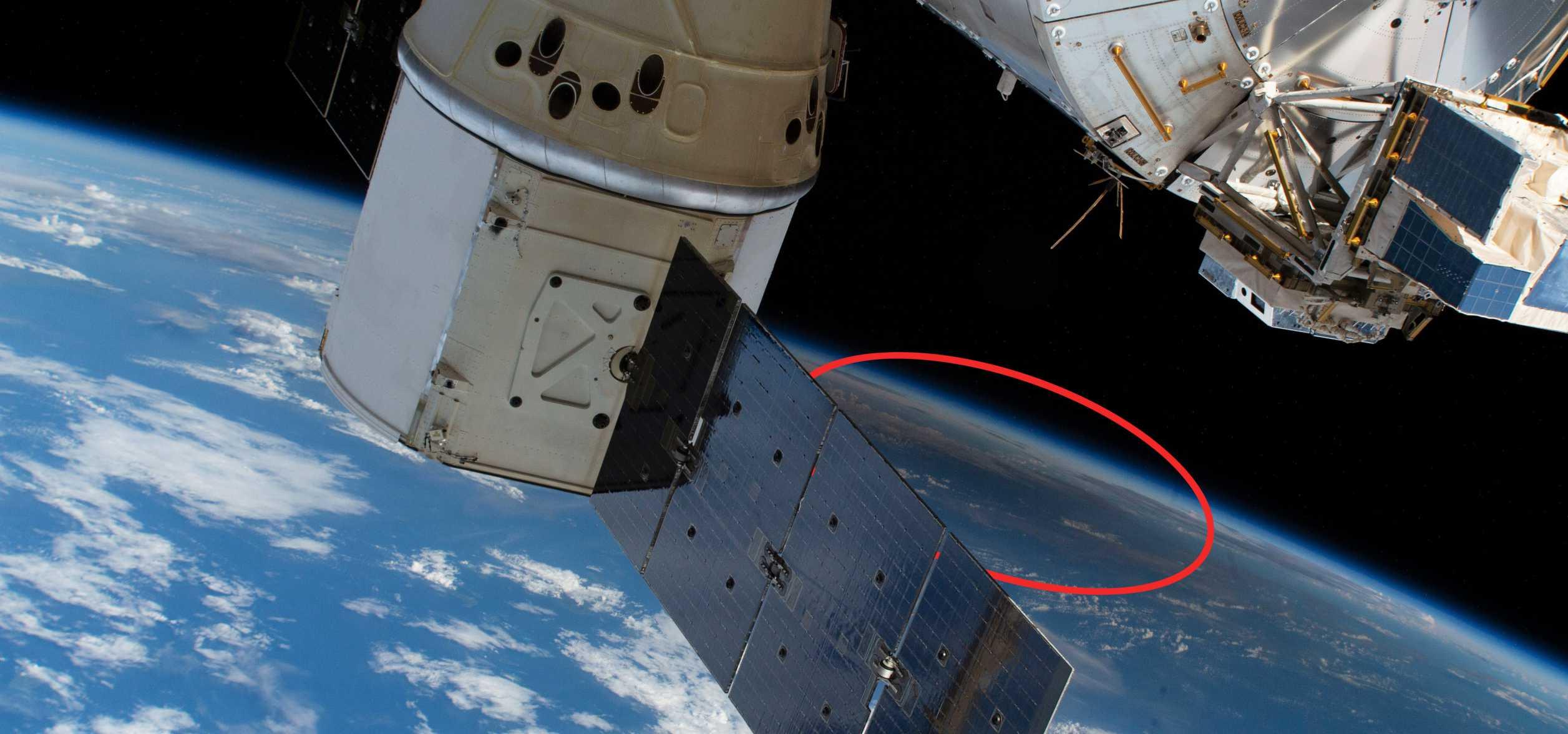 CRS-19 Cargo Dragon C106 ISS 122619 (NASA) eclipse 1 circle (c)