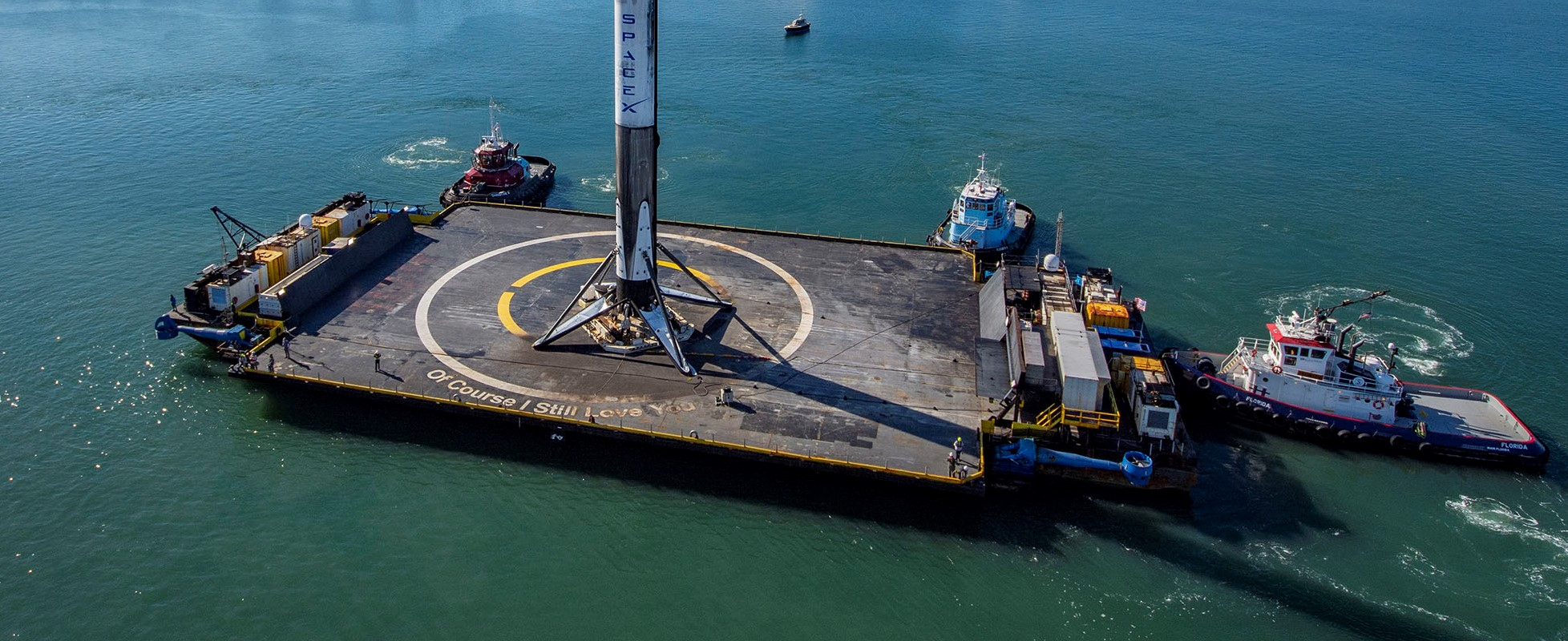 CRS-19 Falcon 9 B1059 OCISLY 120519 (SpaceX) port arrival 1 crop 2