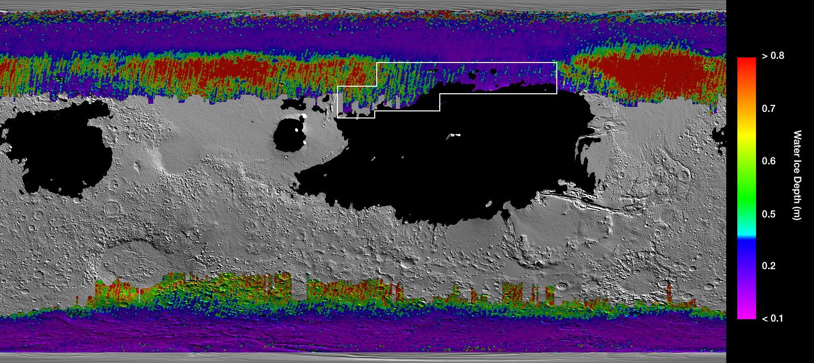 Mars subsurface water data