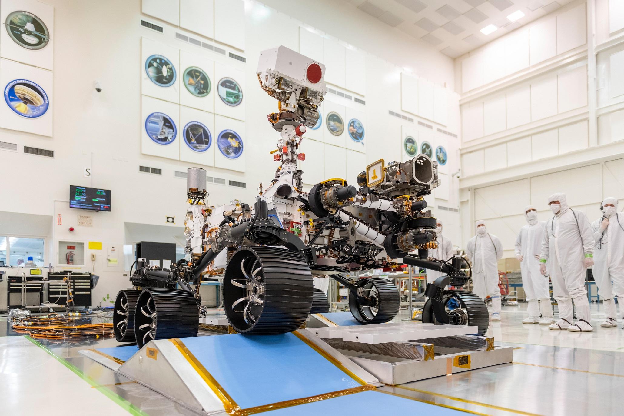 Mars2020 rover roves