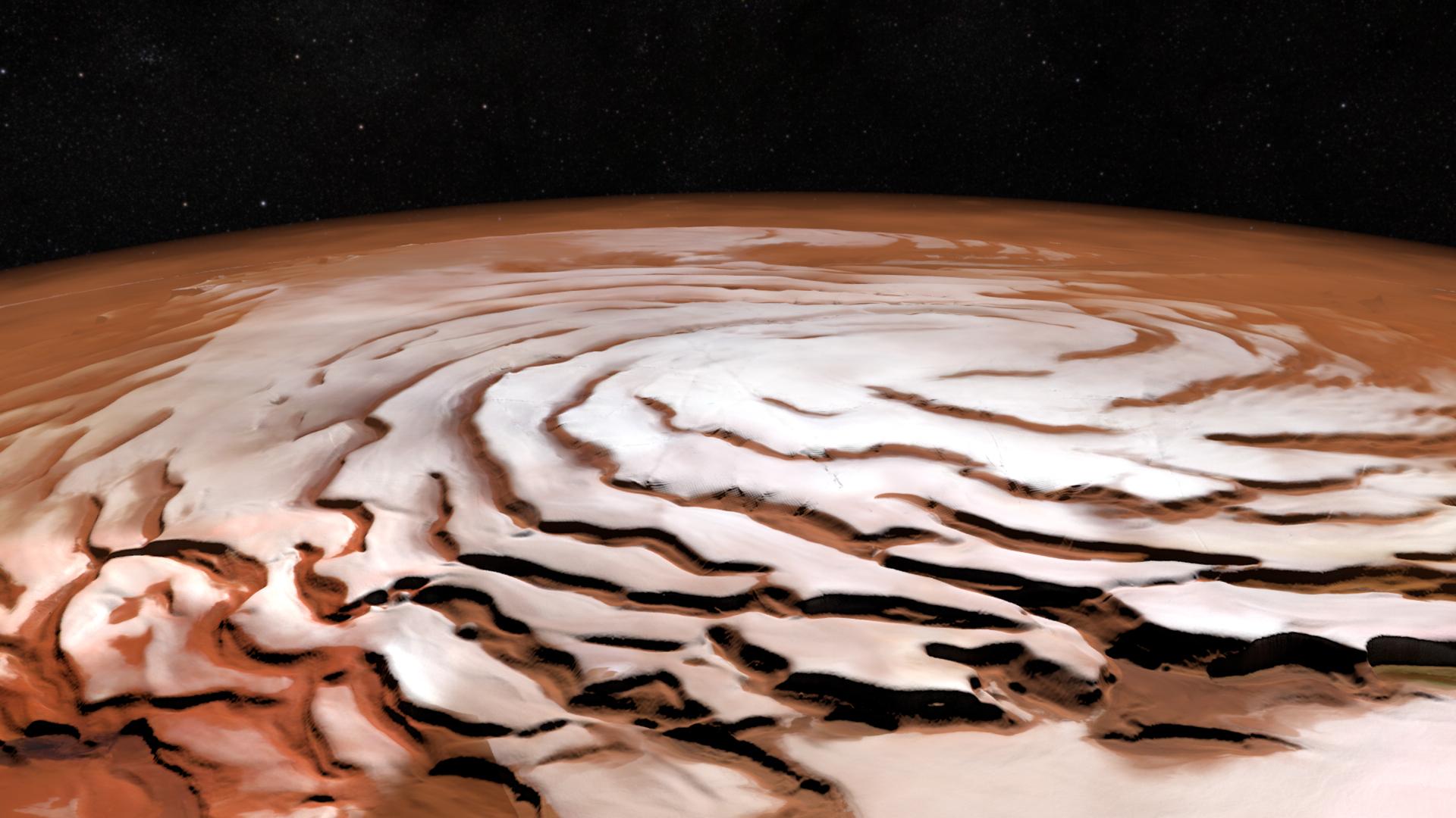 Martian polar caps