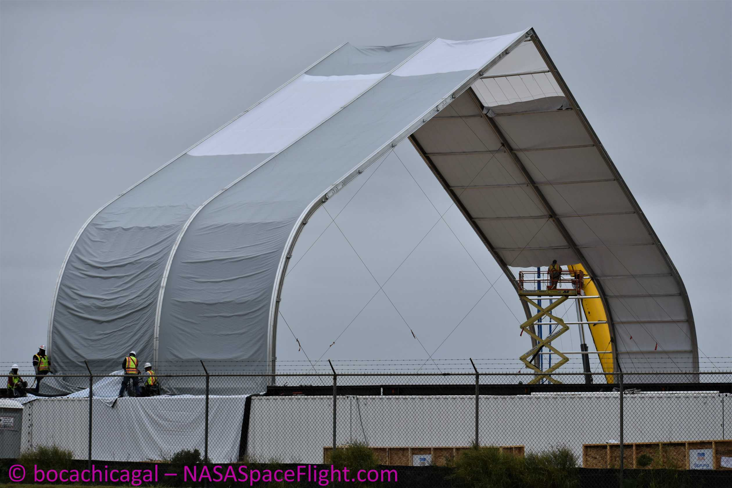 Starship Mk3 122019 (NASASpaceflight – bocachicagal) big tent 1 (c)