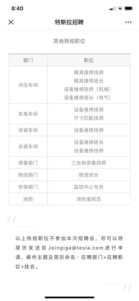 Tesla China Job Posting 4
