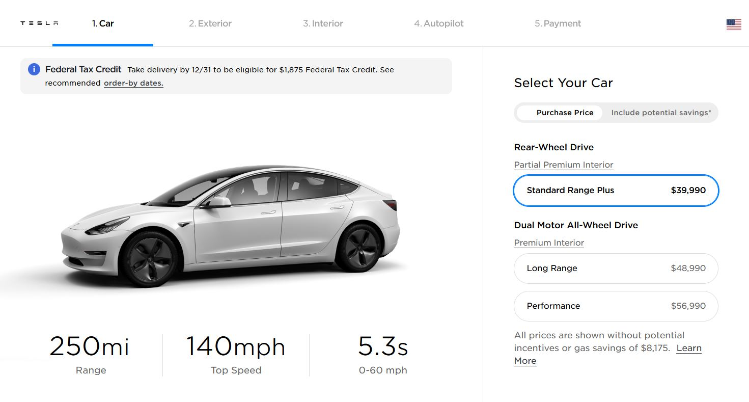 Tesla Model 3 Price Increase