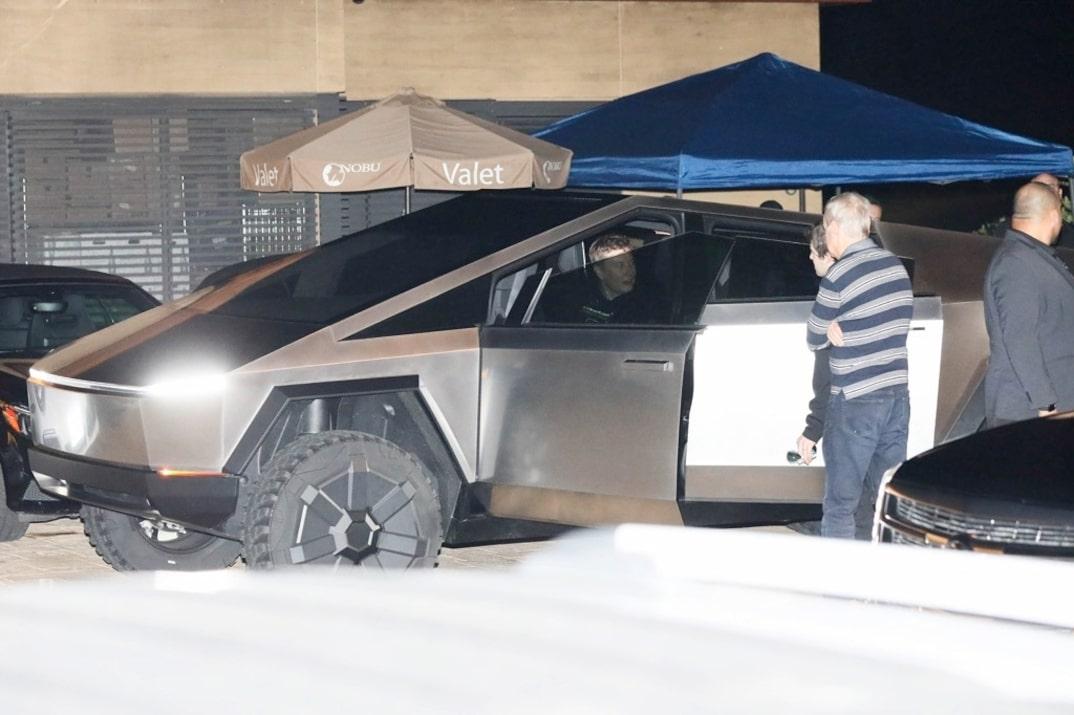 Elon Musk driver of Tesla Cybertruck at Nobu restaurant in Malibu, California (Photo: TMZ)