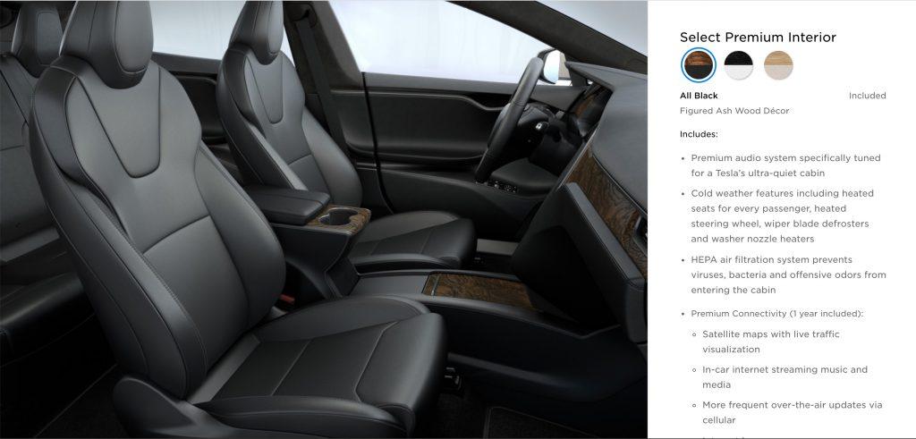 tesla refreshes model s front seats with sleeker roomier design like model x. Black Bedroom Furniture Sets. Home Design Ideas