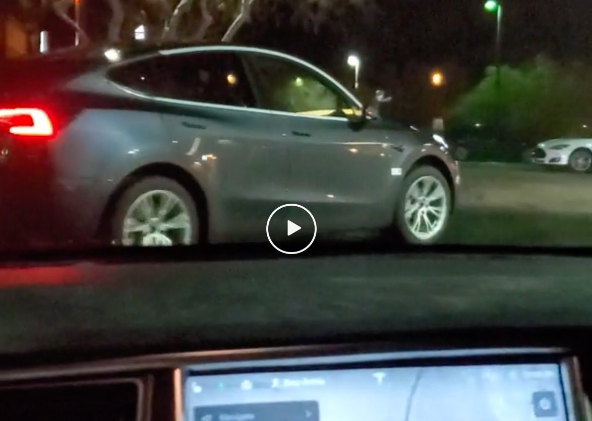 Tesla Model Y at the Barstow, CA Supercharger
