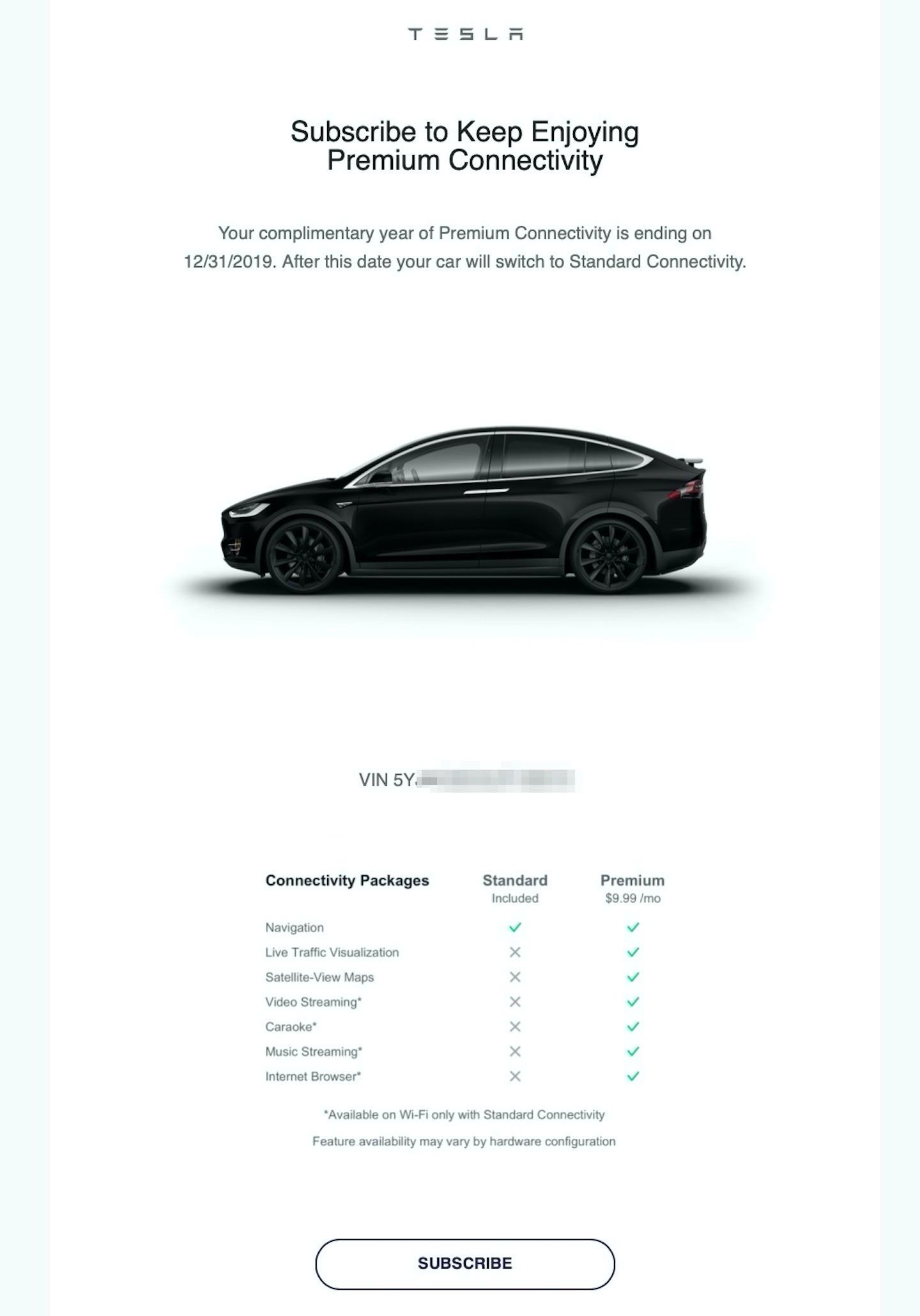 Tesla Standard vs. Premium Connectivity