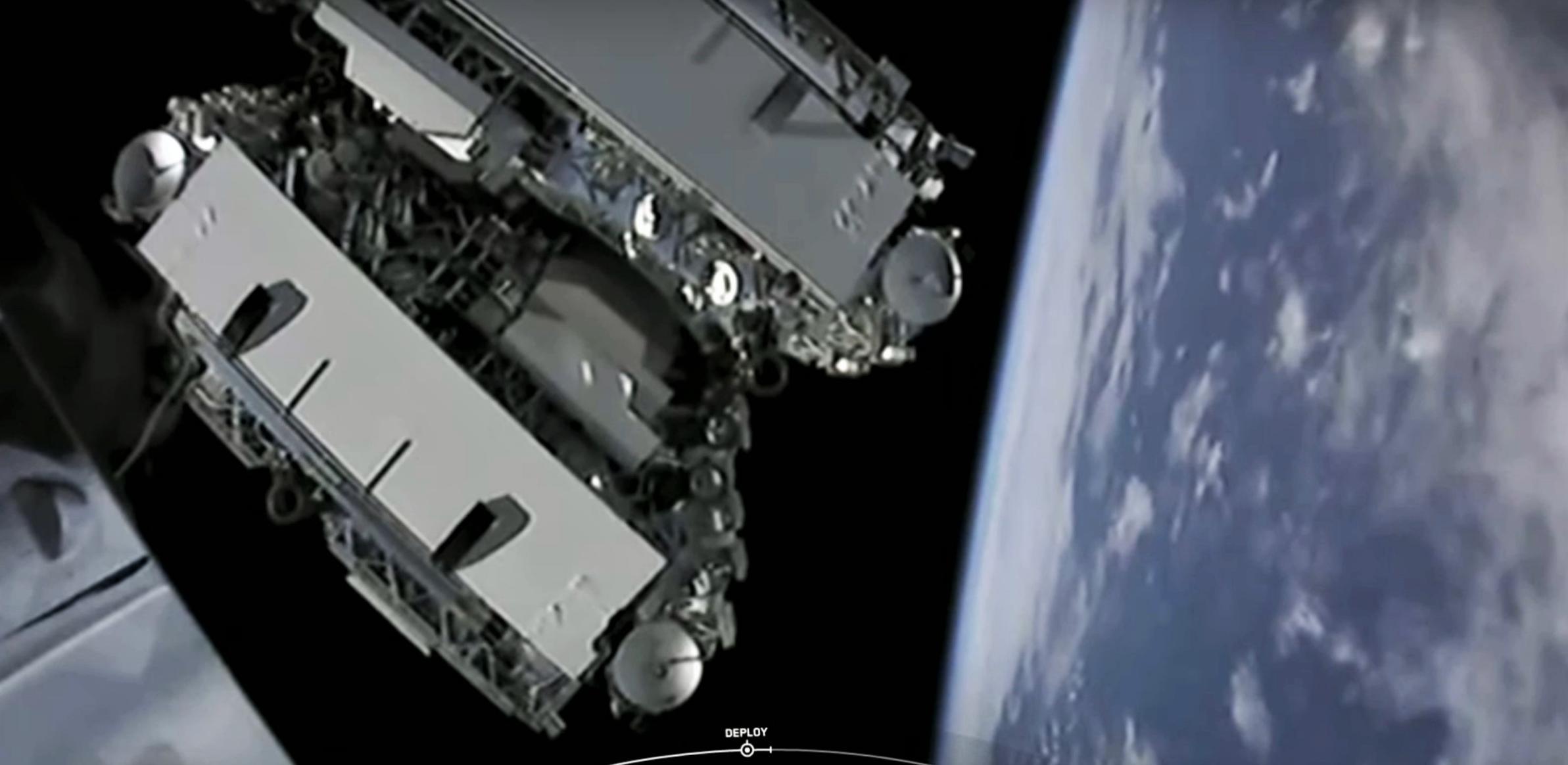 Starlink-2 Falcon 9 B1049 webcast (SpaceX) deployment 2 (c)